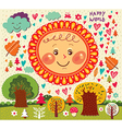 decorative weather background vector image vector image