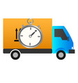 delivery truck icon image isolated vector image vector image