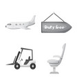 design airport and airplane symbol vector image vector image