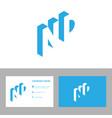 Elegant letter nd logo design concept