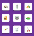 flat icon pets set of vaccine nutrition box vector image vector image