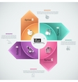 Flat infographics options banner vector image vector image