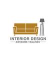 furniture logo company vector image