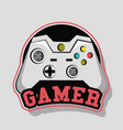 gamer gamepad technology vector image vector image