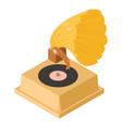 gramophone icon isometric style vector image
