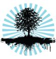 grunge tree logo vector image vector image
