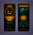 halloween disco party poster with burning letters vector image vector image