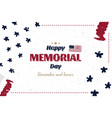 happy memorial day greeting card in old vintage vector image vector image
