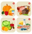Healthy products containing vitamins Vitamin vector image vector image