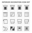 interior decoration icon vector image