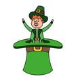leprechaun in a big hat vector image