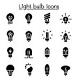light bulb icon set graphic design vector image