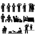 man woman and children icon symbol sign pictograph vector image vector image