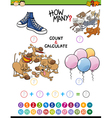 math educational activity for children vector image vector image