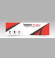modern black red header design background i vector image
