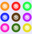 No parking icon sign A set of nine different vector image