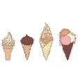 Ornate ice-creams vector image