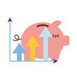 piggy bank statistics chart financial vector image vector image