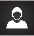profile icon on black background for graphic and vector image