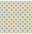 Retro seamless blue polka dots pattern vector image