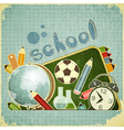 School Board and School Supplies vector image