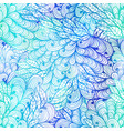 seamless floral grunge blue gradient pattern vector image vector image