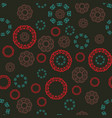 seamless multicolor pattern with tibetian mandalas vector image vector image