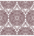 seamless pattern with hand drawn henna mehndi vector image vector image