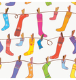 Seamless Socks Background vector image