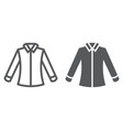 shirt line and glyph icon clothing and formal vector image