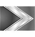silver arrow speed direction on circle mesh vector image vector image