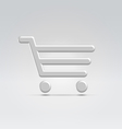 Silver shopping icon