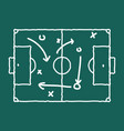 soccer game strategy coaching blackboard and chalk vector image
