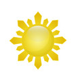 sun isolated summer icon design image vector image vector image