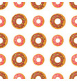 sweet doughnut seamless pattern in flat design vector image vector image