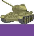 Tank a vector image vector image