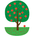 Tree with fruits vector image vector image
