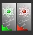 Trendy Christmas Sale Card vector image