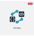 two color software icon from programming concept vector image vector image