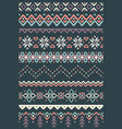 Ugly sweater seamless borders