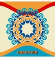 Vintage greeting cards with mandala motifs in vector image