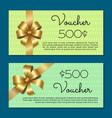 voucher 500 set gift certificates for discounts vector image vector image