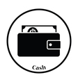 Wallet with cash icon vector image vector image