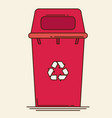 waste sorting garbage bin vector image