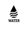water drop with waves design template vector image vector image