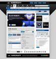 web design element template a set of web design vector image vector image