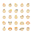 web icons with various faces vector image vector image