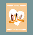 World human rights day template vector image vector image