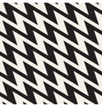 ZigZag Edgy Stripes Seamless Black and vector image vector image