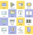 Design Flat Line Icons vector image